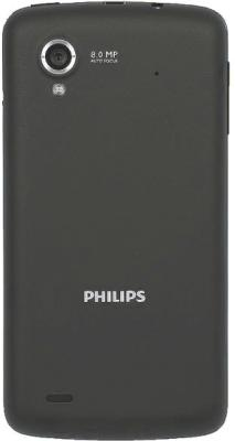 Смартфон Philips W832 Gray - задняя панель