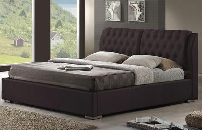 Двуспальная кровать Королевство сна Sophia 160x200 (темно-коричневая, без основания) - в интерьере