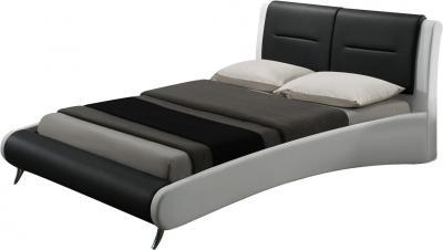 Двуспальная кровать Королевство сна Gitzo 160x200 (черно-белая) - общий вид