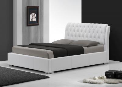 Двуспальная кровать Королевство сна Insigne 180x200 белая с кристаллами (с основанием) - общий вид