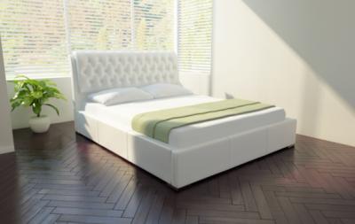Двуспальная кровать Королевство сна Casa 160x200 (белая) - в интерьере
