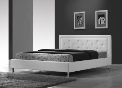 Полуторная кровать Королевство сна Fancy 140x200 (белая с кристаллами) - в интерьере