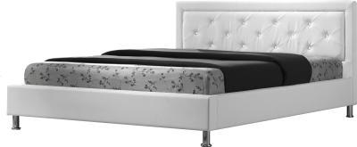 Полуторная кровать Королевство сна Fancy 140x200 (белая с кристаллами) - общий вид