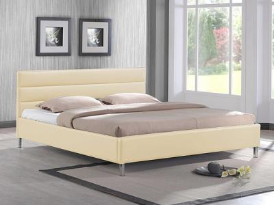 Двуспальная кровать Королевство сна 8034 160х200 (ванильно-кремовая) - в интерьере