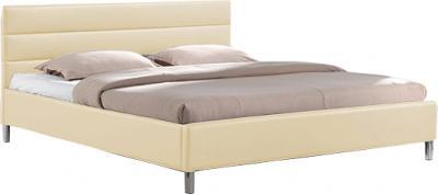 Двуспальная кровать Королевство сна 8034 160х200 (ванильно-кремовая) - общий вид
