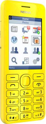 Мобильный телефон Nokia Asha 206 Dual Yellow - общий вид