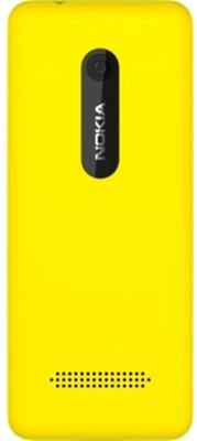 Мобильный телефон Nokia Asha 206 Dual Yellow - задняя панель