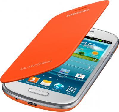 Чехол-флип для Samsung I8190 Samsung EFC-1M7FOEGSER Orange - общий вид