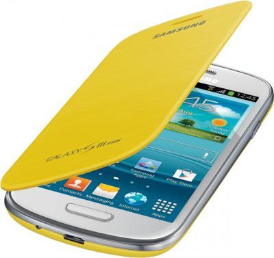 Чехол-флип для Samsung I8190 Samsung EFC-1M7FYEGSER Yellow - общий вид