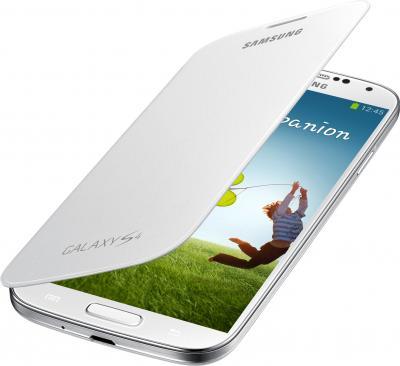 Чехол-флип для Samsung I9500 Samsung EF-FI950BWEGRU White - общий вид