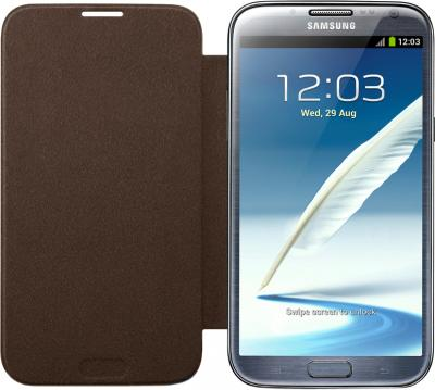 Чехол-флип для Samsung N7100 Samsung EFC-1J9FAEGSER Brown - общий вид