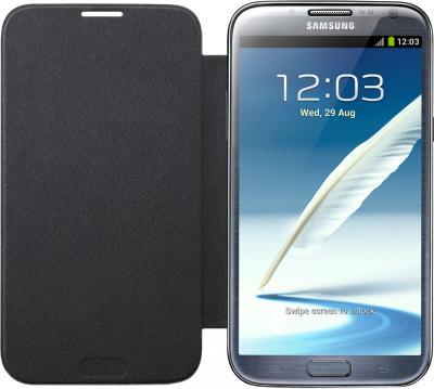 Чехол-флип для Samsung N7100 Samsung EFC-1J9FSEGSER Silver - общий вид