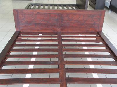 Двуспальная кровать Королевство сна Tahiti 160x200 (медово-коричневая с черным) - каркас