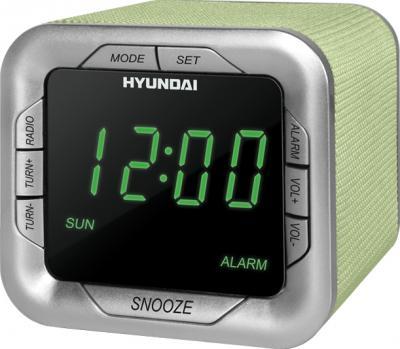 Радиочасы Hyundai H-1505  (Green) - общий вид