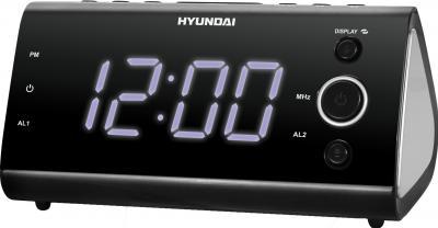 Радиочасы Hyundai H-1551  (Black-Purple) - общий вид