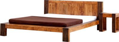 Двуспальная кровать Королевство сна Tibet 160х200 (натуральная акация с черным) - общий вид