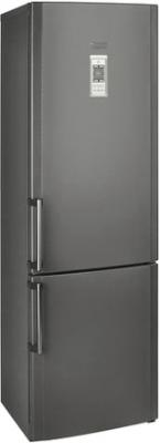 Холодильник с морозильником Hotpoint HBD 1201.3 X NF H - общий вид