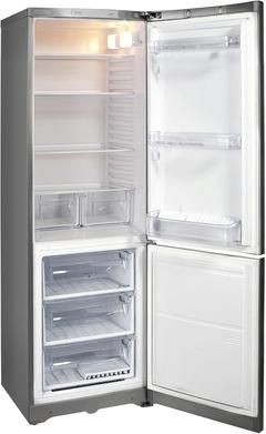 Холодильник с морозильником Hotpoint HBM 1161.2 X - с открытой дверью