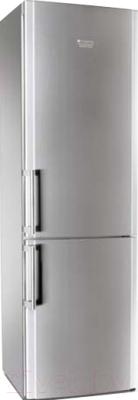 Холодильник с морозильником Hotpoint HBM 2201.4 X H - общий вид