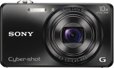Компактный фотоаппарат Sony Cyber-shot DSC-WX200 Black - вид спереди