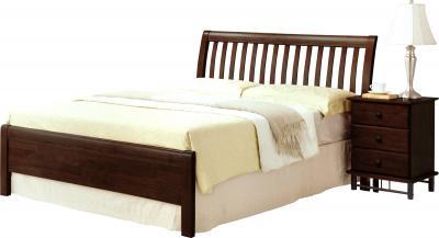 Полуторная кровать Королевство сна 3601 140х200 (венге) - общий вид с тумбой