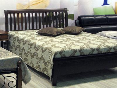 Двуспальная кровать Королевство сна 3601 160х200 (венге) - в интерьере