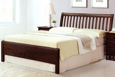 Двуспальная кровать Королевство сна 3601 180x200 (венге) - в интерьере