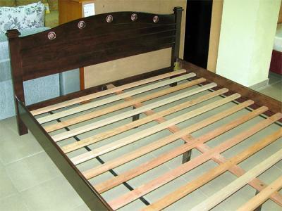 Двуспальная кровать Королевство сна SN201 160х200 (капучино) - общий вид