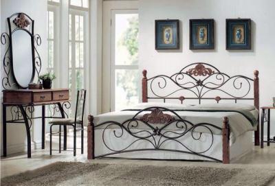 Полуторная кровать Королевство сна FD-881 140х200 (античный дуб) - в интерьере