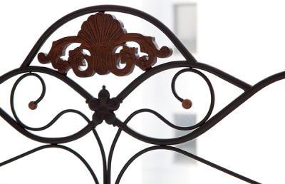 Полуторная кровать Королевство сна FD-881 140х200 (античный дуб) - кованый узор спинки