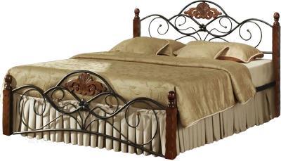 Двуспальная кровать Королевство сна FD-881 160х200 (античный дуб) - общий вид
