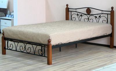 Двуспальная кровать Королевство сна PS-8823 160х200 (античный дуб) - общий вид