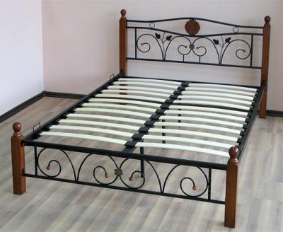 Двуспальная кровать Королевство сна PS-8823 160х200 (античный дуб) - общий вид с основанием