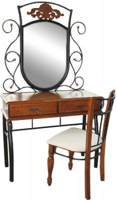 Туалетный столик с зеркалом Королевство сна FD-245 (античный дуб) - общий вид