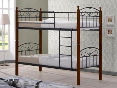 Односпальная кровать Королевство сна NV209DD 90x190 (тонированный дуб) - в интерьере