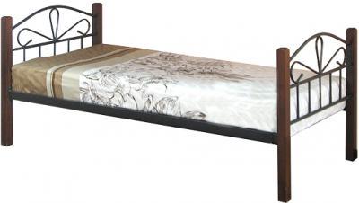 Односпальная кровать Королевство сна NV209DD 90х190 (тонированный дуб) - общий вид