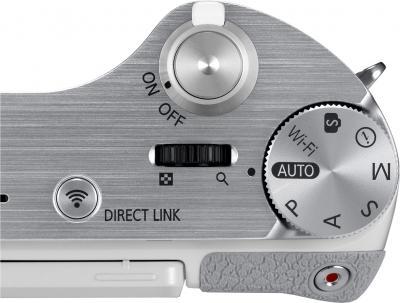 Беззеркальный фотоаппарат Samsung NX300 Kit 18-55mm White-Silver (EV-NX300ZBQURU) - элементы управления