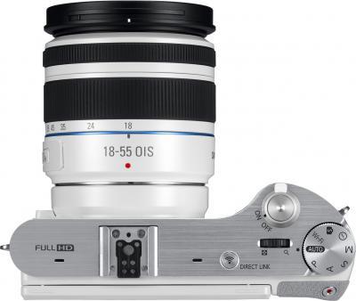 Беззеркальный фотоаппарат Samsung NX300 Kit 18-55mm White-Silver (EV-NX300ZBQURU) - вид сверху