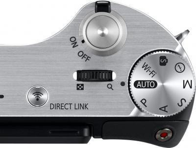 Беззеркальный фотоаппарат Samsung NX300 Kit 18-55mm Black-Silver (EV-NX300ZBSTRU) - элементы управления
