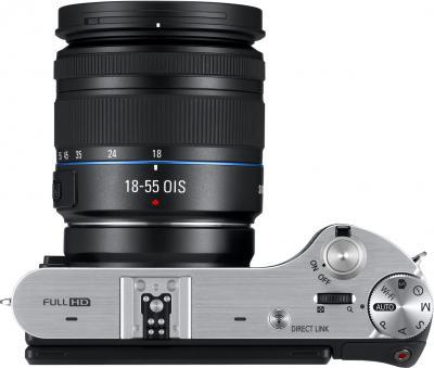 Беззеркальный фотоаппарат Samsung NX300 Kit 18-55mm Black-Silver (EV-NX300ZBSTRU) - вид сверху