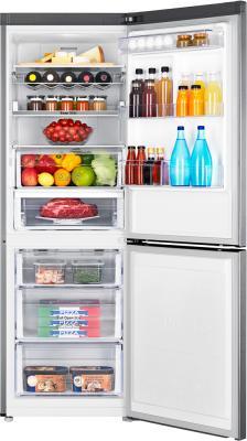 Холодильник с морозильником Samsung RB29FERNCSS/WT - заполненный с открытой дверью