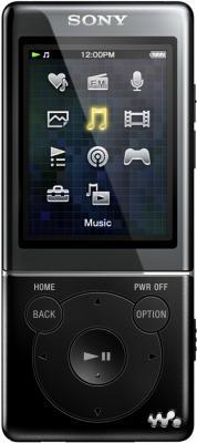 MP3-плеер Sony NWZ-E473 Black - вид спереди