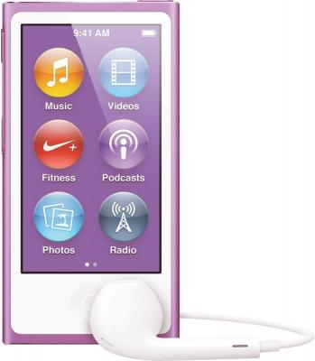 MP3-плеер Apple iPod nano 16Gb MD479QB/A (фиолетовый) - вид спереди