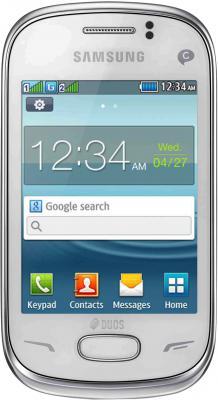 Мобильный телефон Samsung S3802 Rex 70 Duos White (GT-S3802 CWWSER) - общий вид