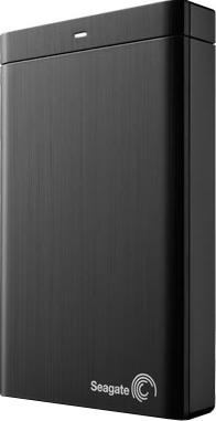 Внешний жесткий диск Seagate Backup Plus Portable Black 1TB (STBU1000200) - вид спереди