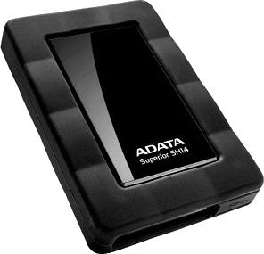 Внешний жесткий диск A-data Superior SH14 1TB Black (ASH14-1TU3-CBK) - общий вид