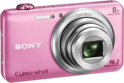 Компактный фотоаппарат Sony Cyber-shot DSC-WX60 Pink - общий вид