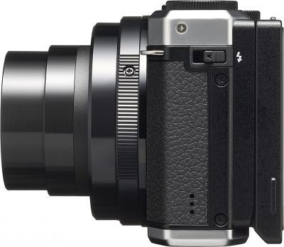 Компактный фотоаппарат Pentax MX-1 Silver - вид сбоку