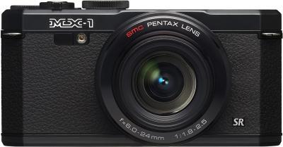 Компактный фотоаппарат Pentax MX-1 Black - вид спереди