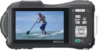 Компактный фотоаппарат Pentax WG-10 Black - вид сзади